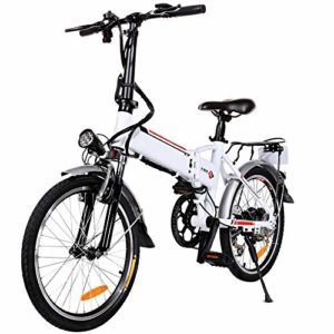 "20"" Folding Electric Bike with Removable Large"