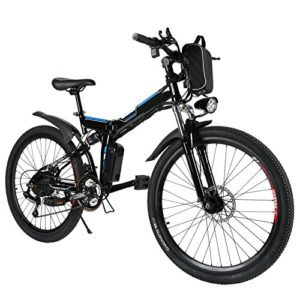 26'' Folding Electric Mountain Bike with Removable 36V