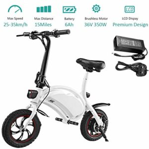 350W Folding Electric Bicycle with 15Mile Range