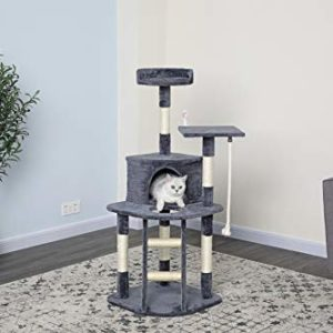 """51"""" Econommical Cat Tree Condo with Sisal"""