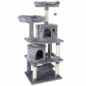 57.1 Inches Multi-Level Cat Tree Tower with
