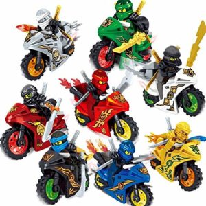 8 PCS Ninja Motos Building Blocks Action