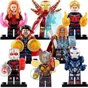 8pcs Superhero Mini Building Block Action Figures