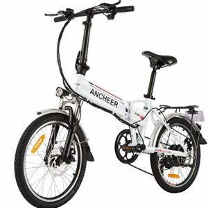 ANCHEER Folding Electric Bike Commute Ebike 20''