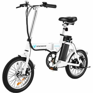 ANCHEER Folding Electric Commuter Bike 16'' City