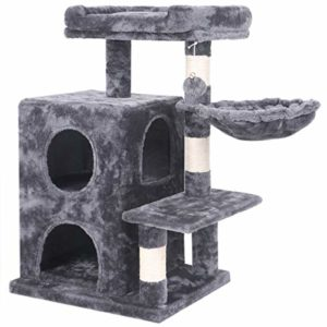 BEWISHOME Cat Tree Condo with Sisal Scratching