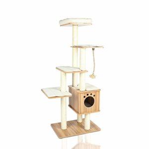 """LAZY BUDDY 67"""" Wooden Cat Tree"""