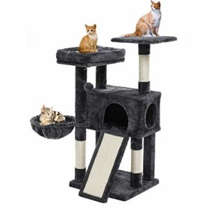 SUPERJARE Cat Tree Condo with Scratching Board