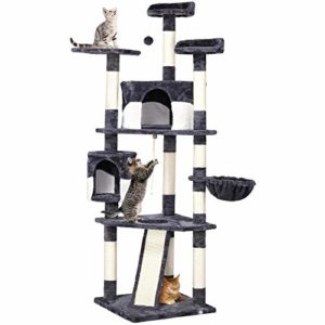 YAHEETECH 79in Multi-Level Cat Trees with Sisal-Covered